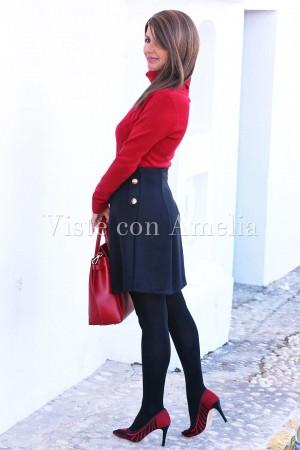 Zapatos Rojo y Negro