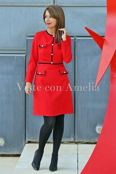Vestido rojo Ingrid