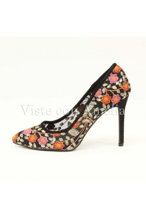Zapato Tul Flores
