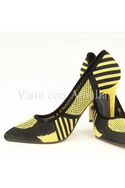 Zapato Amarillo y negro malla