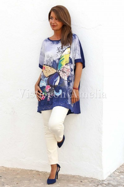 Camiseta oversize Batesia Azul Marino