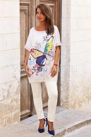 Camiseta oversize Batesia Beige