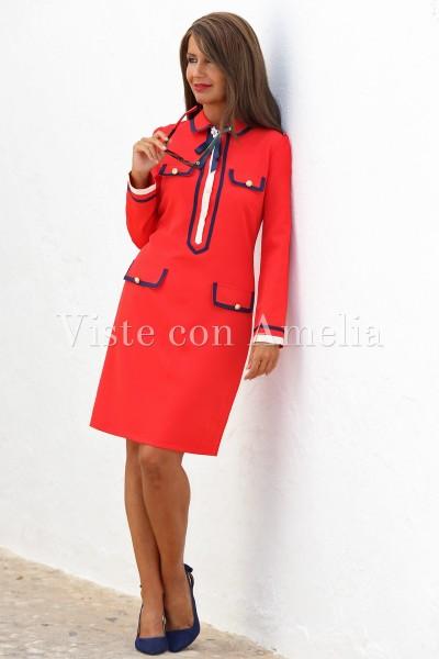 Vestido Colette Rojo