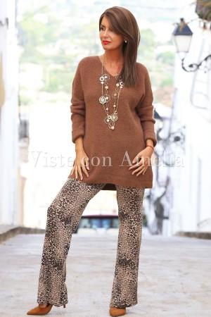 Jersey marrón Mohair