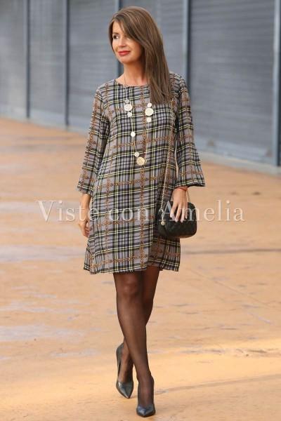 Vestido Geraldine Gris
