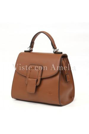 Bolso marrón hebilla