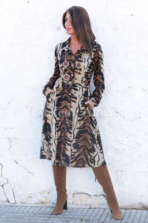 Vestido Midi Tigre Punto