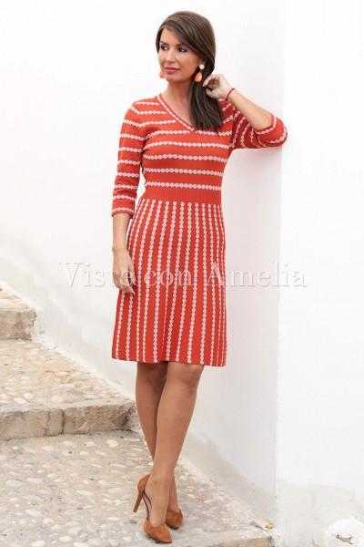 Vestido Doña Estilo coral