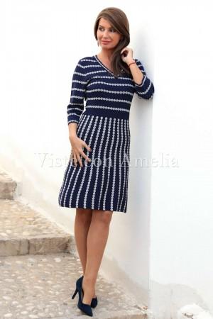 Vestido Doña Estilo Azul marino