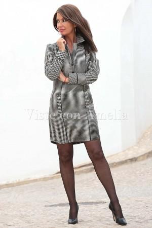 Vestido Vichy Blanco y negro