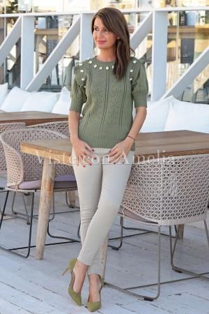 Suéter Conchas Verde