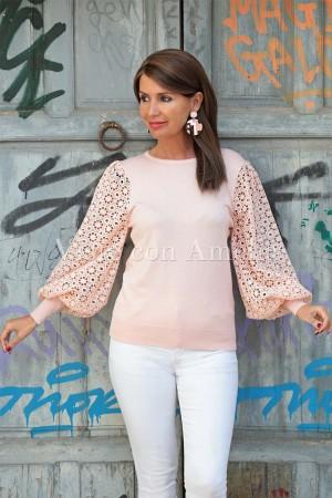 Suéter Carina Rosa Pálido
