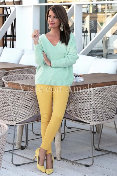 Suéter Dulce Verde agua