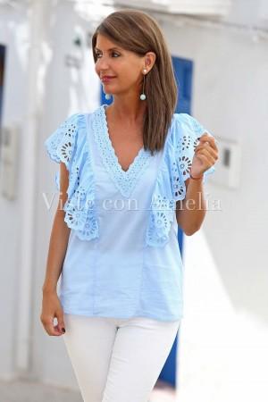 Blusa azul celeste Dulce