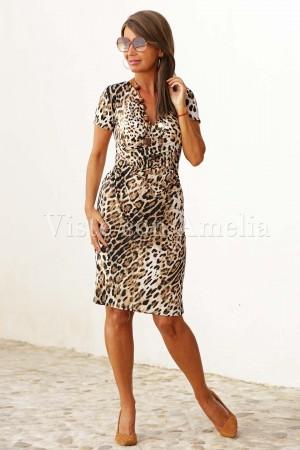 Vestido Tigre punto de seda