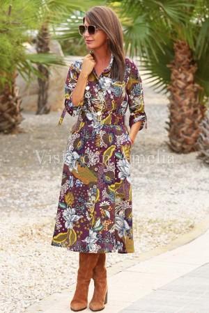 Vestido Chantal Burdeos