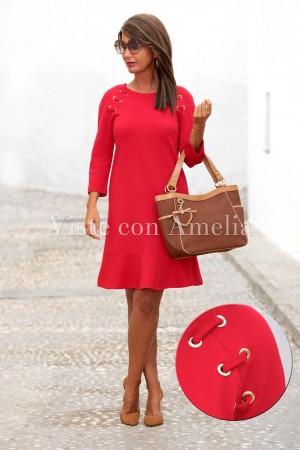 Vestido Mujer de Rojo