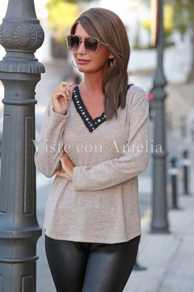 Suéter vivo camel
