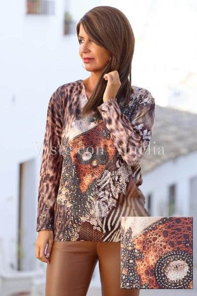 Blusa Turca Colores de Otoño