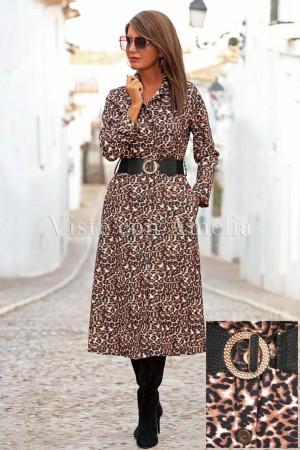 Vestido camisero Chantal Animal Print