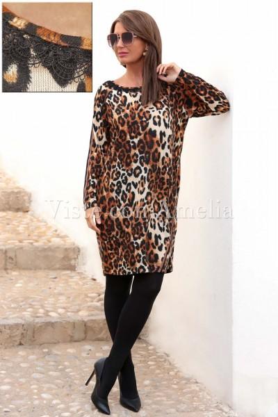 Maxi vestido tigre