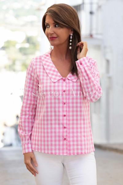 Camisa Vichy Rosa