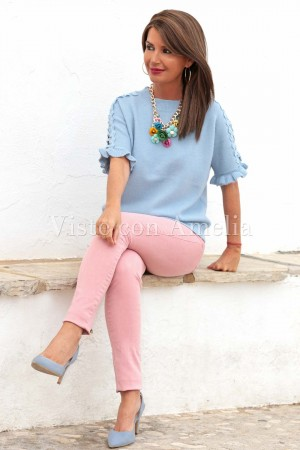 Suéter azul cielo Tina