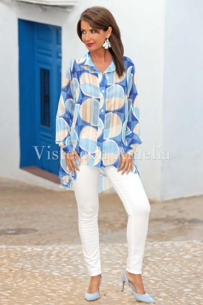 Blusón Renata Azul