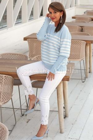 Suéter Pocholada azul cielo