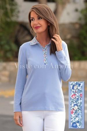 Polo Gardenia Azul