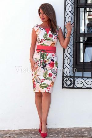 Vestido Clementina Fajín Rojo
