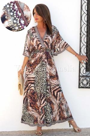 Vestido Especial Tigre Pedrería
