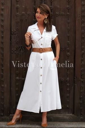 Vestido Chantal Blanco Lyocell