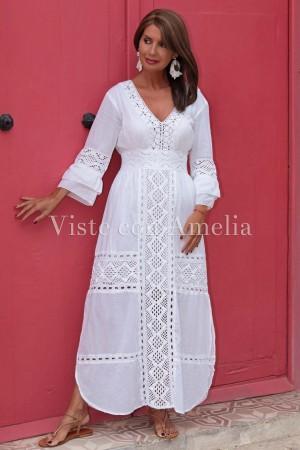Vestido Encaje de Bolillo