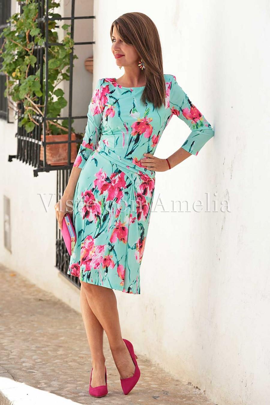 vestidos florales drapeados